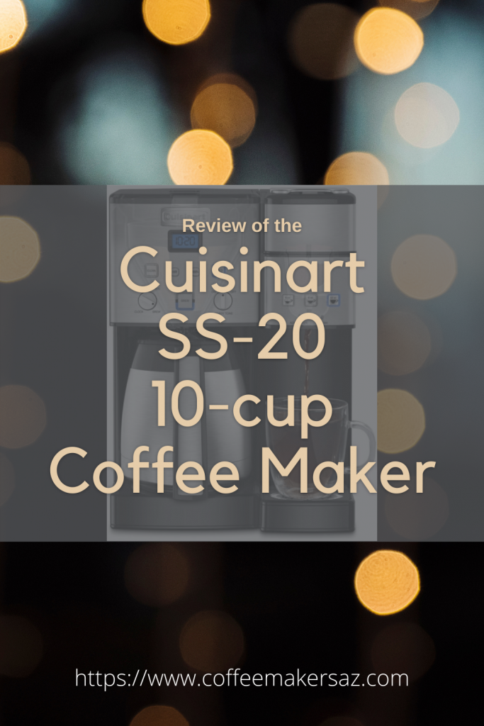 pinterest image for Cuisinart-SS-20-10-cup Coffee Maker