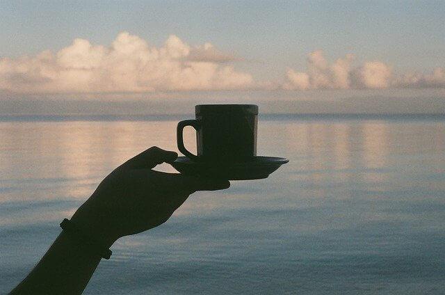 single cup of coffee