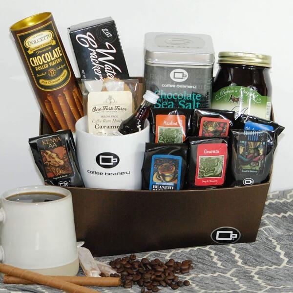 coffee beanery gift basket