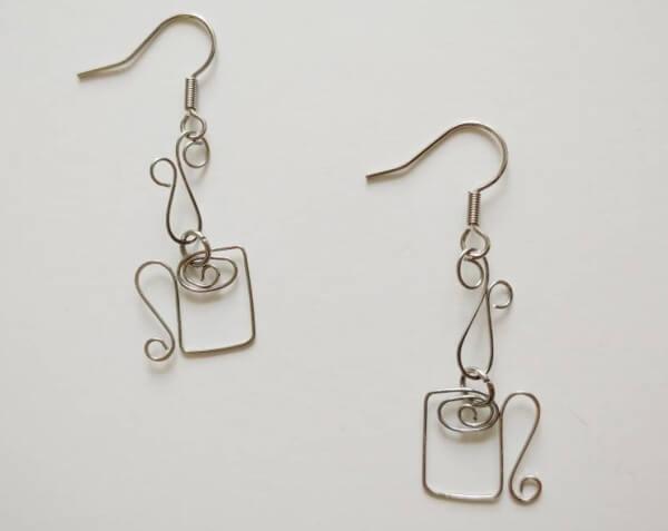 coffee mug wire wrap earrings