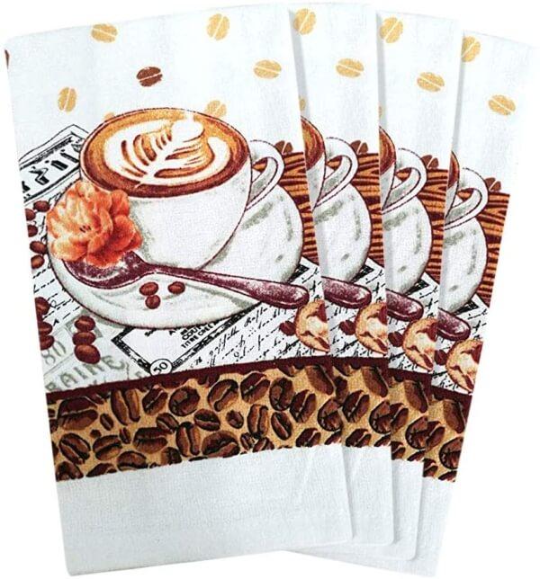 coffee theme kitchen towels