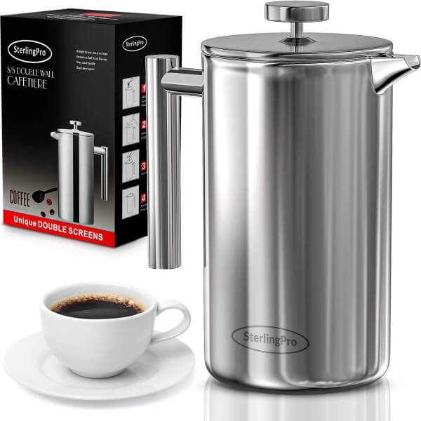 sterlingpro french press coffeemaker