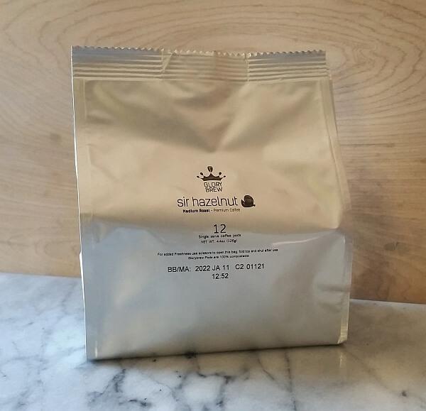Light blocking, airtight bag for Glorybrew coffee