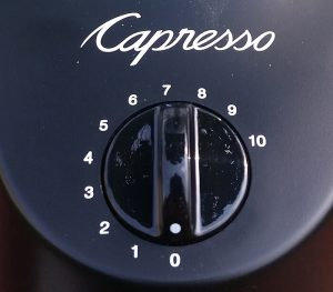 capresso infinity coffee bean grinder timer + dial
